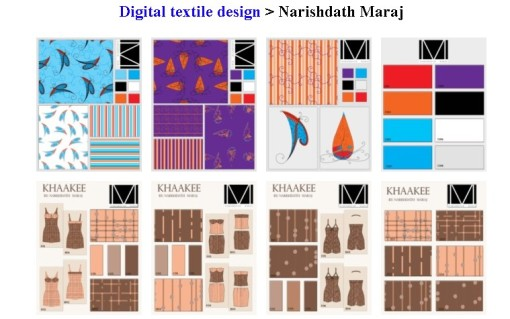 Digital textile design by Narishdath Maraj